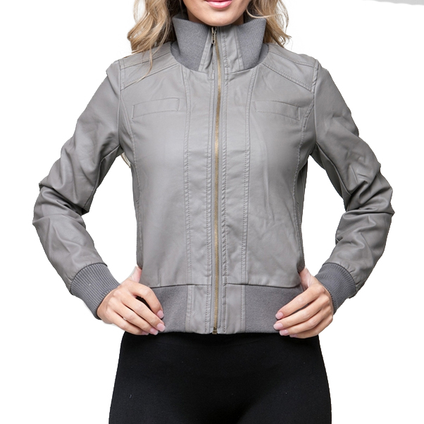 Dames Aviator jas Grey