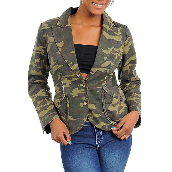 Dames Fashion Army Jacket