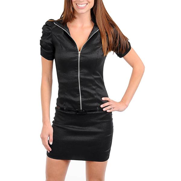 Dames jurk Black Zipper