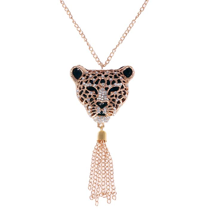 Dames ketting goud Leopard Head