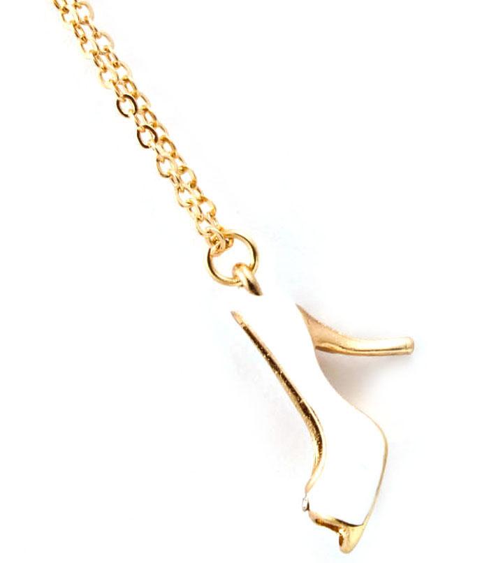 Dames ketting High Heel Gold White