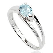 Dames ring 925 zilver Blue Topaz