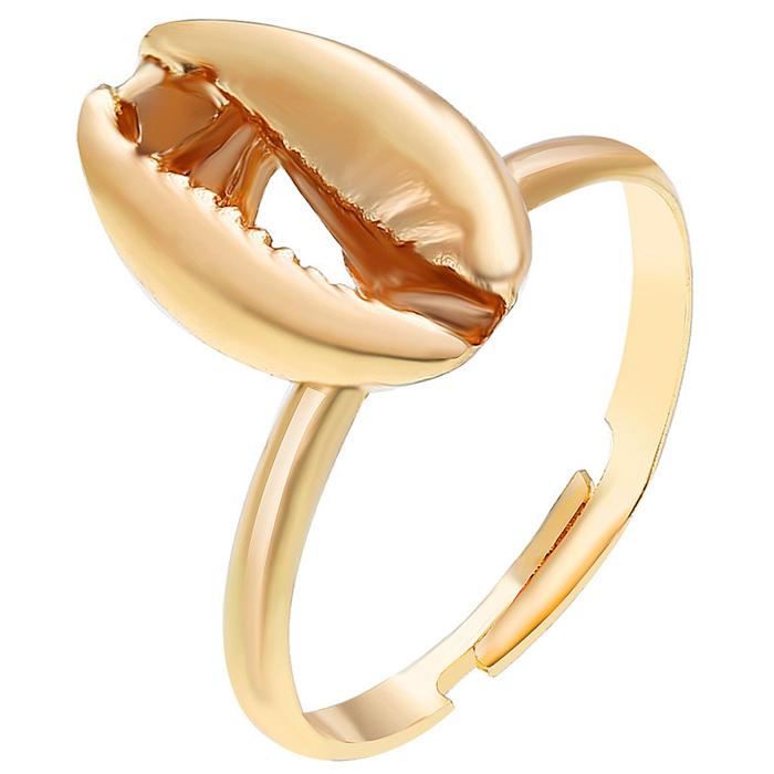 Dames ring Sea Shell Verstelbaar Goudkleurig