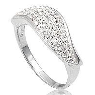 Dames ring zilver Swarovski