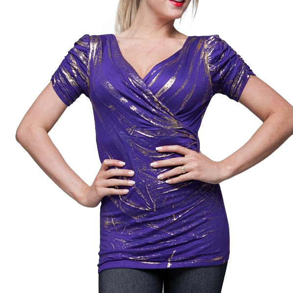 Dames shirt Purple Gold