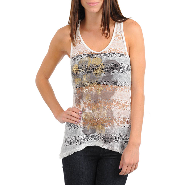 Dames top Lace Ivory