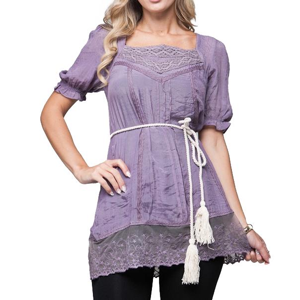Dames tuniek romantic Purple thumbnail