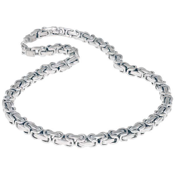 LGT Jewels koningsketting Heren Edelstaal Zilverkleurig - 55cm