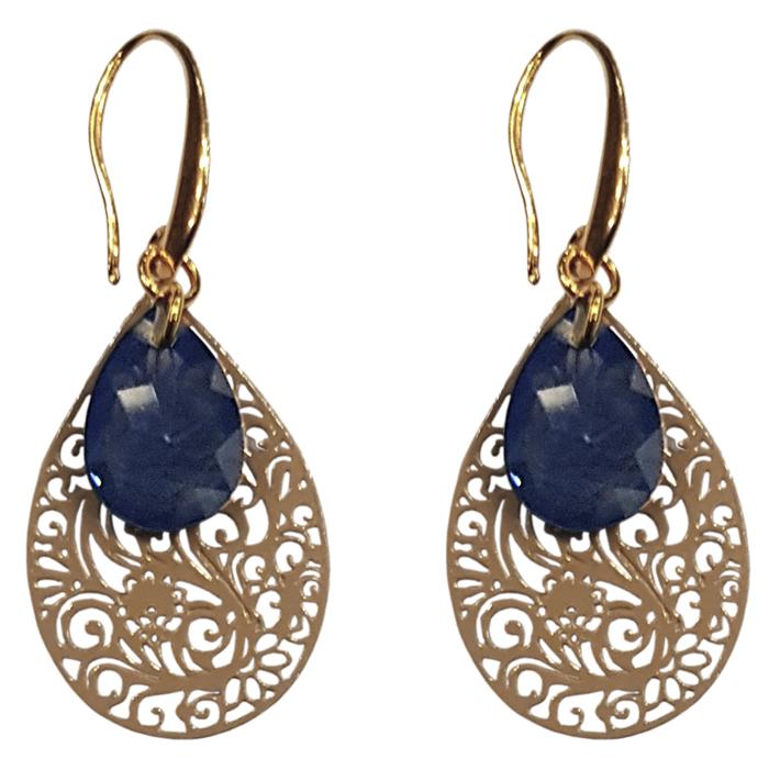TABOO dames oorbellen EVI BLUE/GOLD