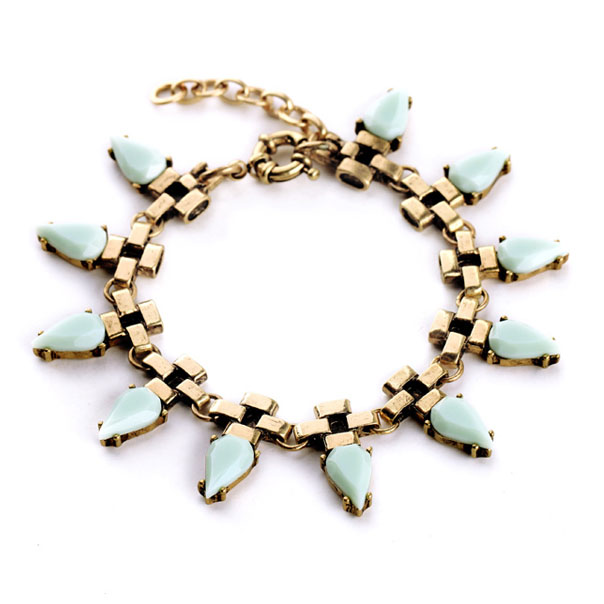 Fashion armband Antique Link Turquoise Drop