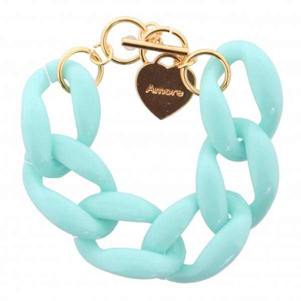Fashion armband big chain Turquoise