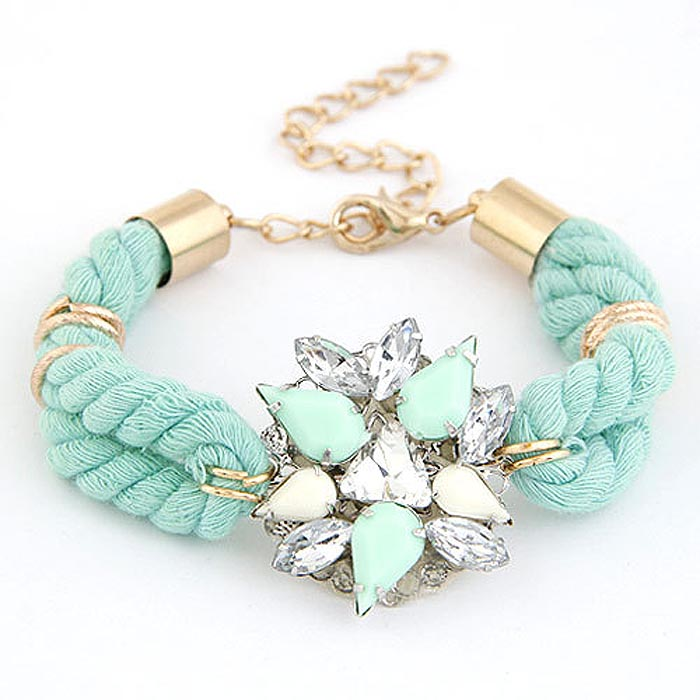 Fashion armband Crystal Flower