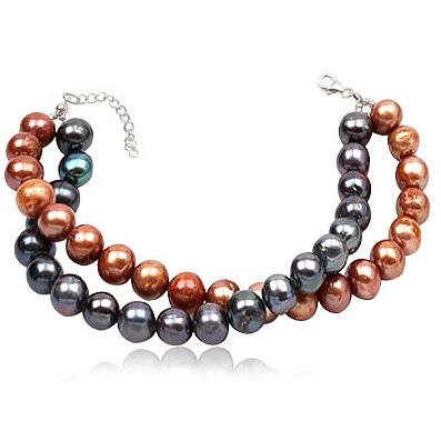 Fashion armband Double Beads