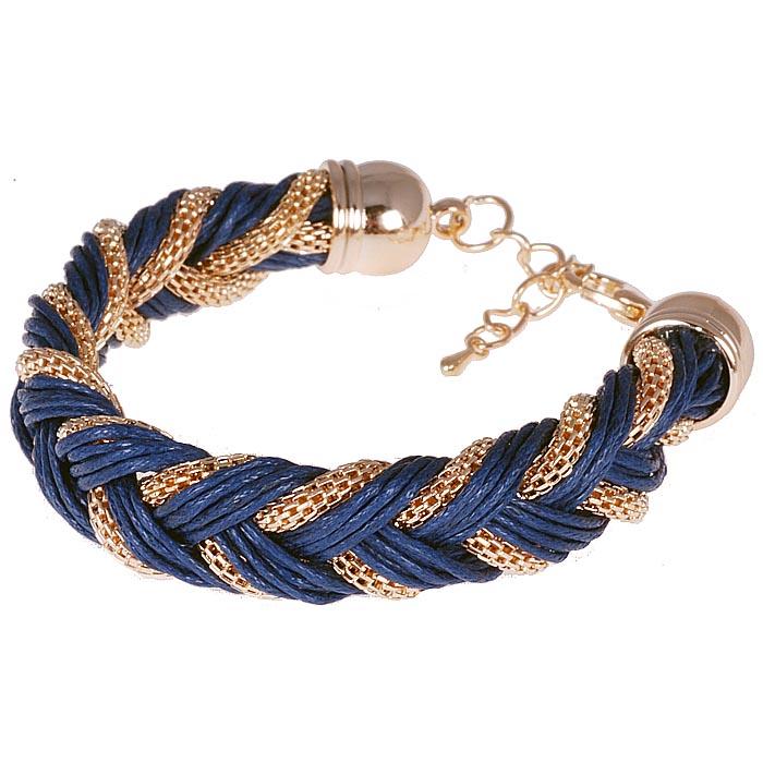 Fashion armband Friendship Chain Blue Gold