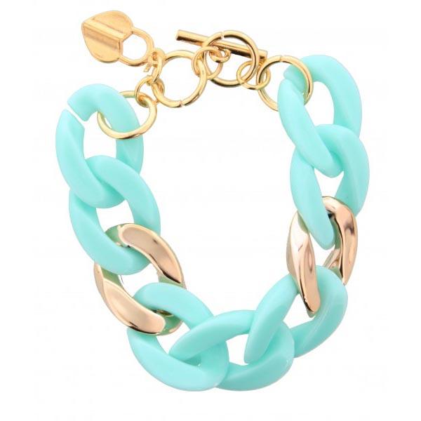 Fashion armband small chain Turquoise