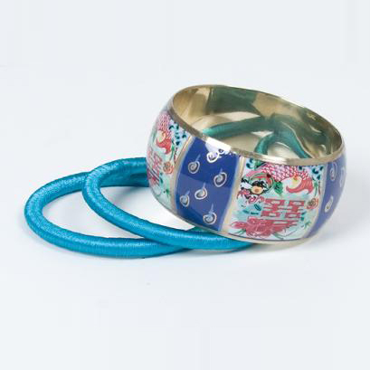 Sarlini fashion bangle Blauw