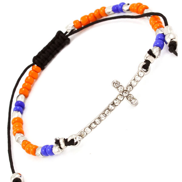 Hippe dames armband Crystal Cross