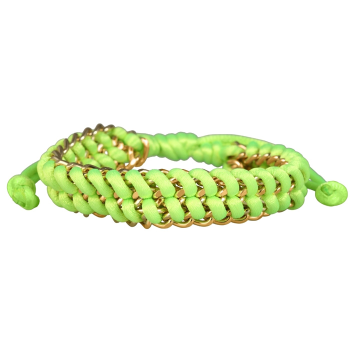 Fashion dames armband Groen met goud