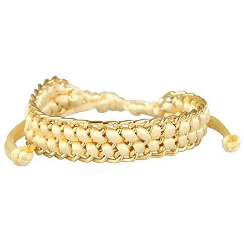 Fashion dames armband ivoor met goud