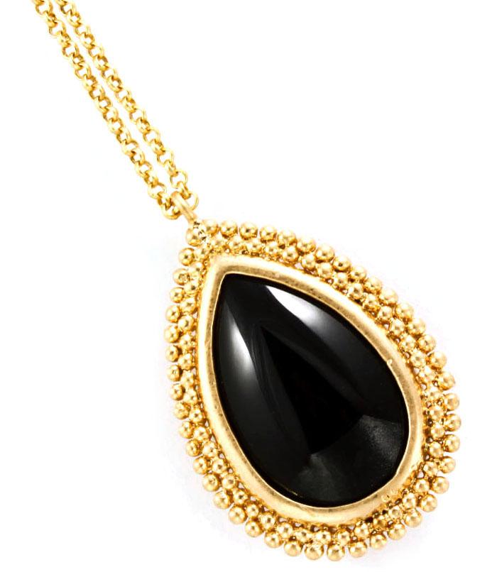 Fashion dames ketting Black Stone