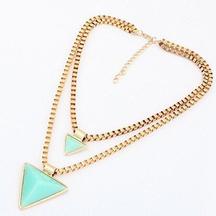 Fashion dames ketting Fashion Geometric Triangle