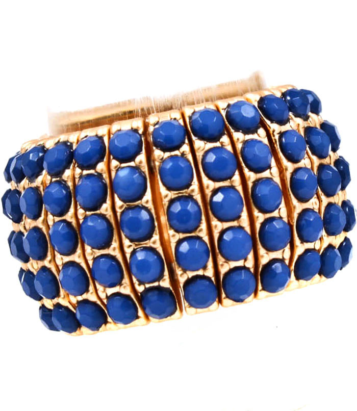 Fashion dames ring Blue Studs