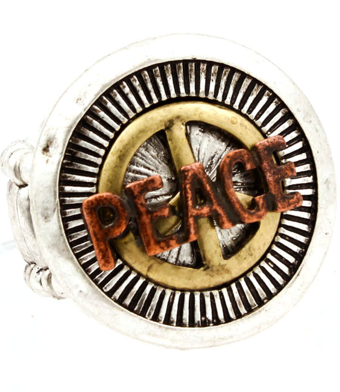 Fashion dames ring Peace