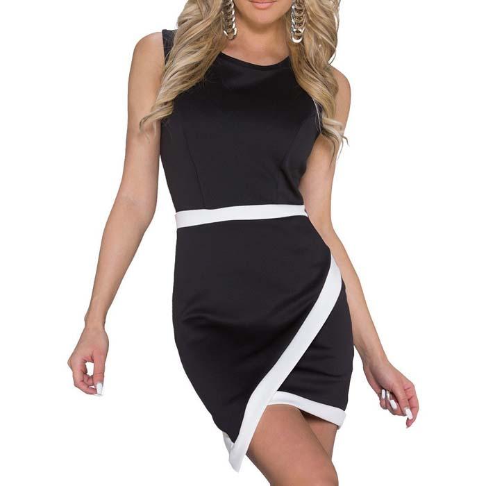 Fashion Jurk Black White N179-2