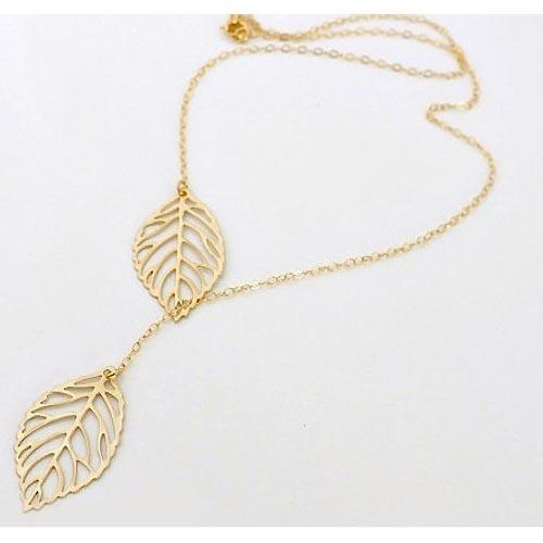 Fashion ketting Gold Leaf
