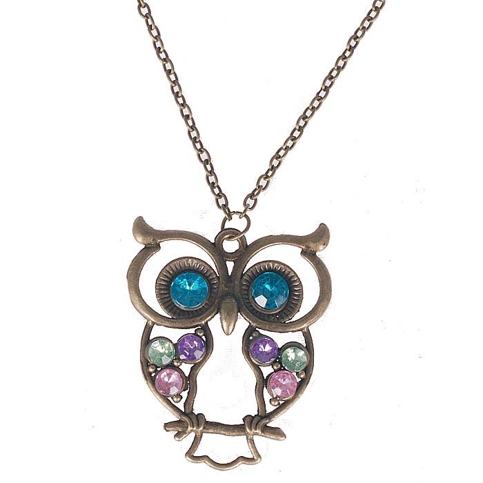 Fashion ketting Owl Chrystal