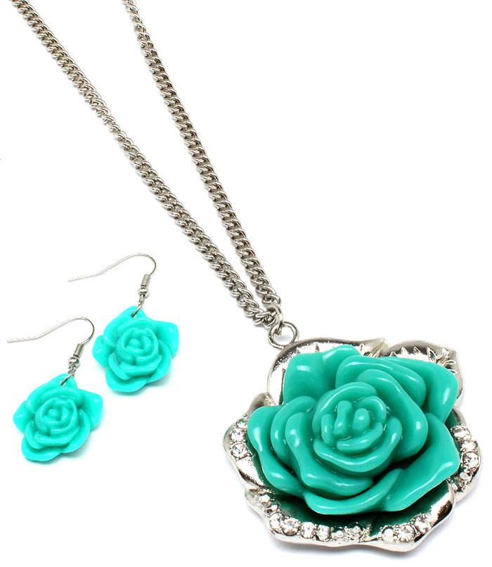 Fashion ketting Turquoise Rose