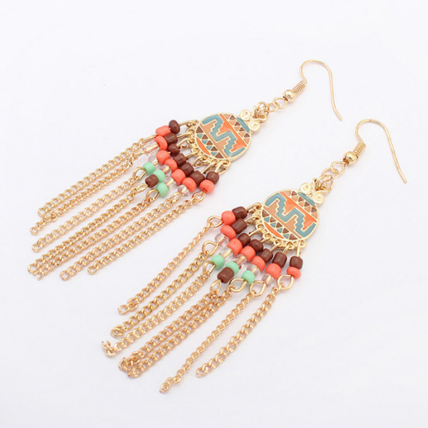 Fashion oorbellen Bohemian Colored Beads