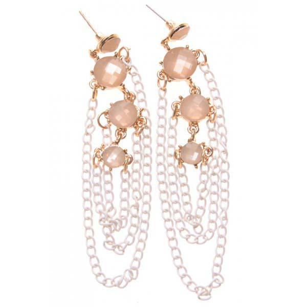 Fashion oorbellen Goud met transparante stenen B-F16.9