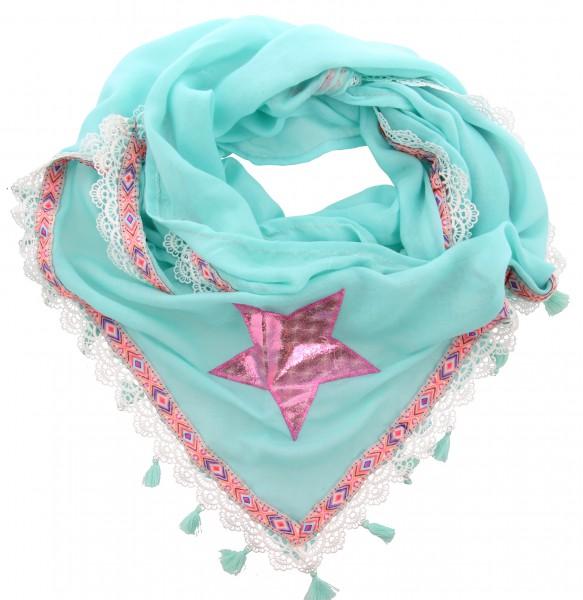 Fashion Sjaal Franjes Pink Star