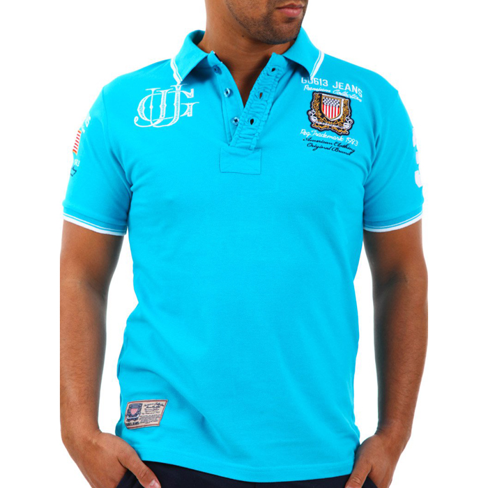 Gangster Unit polo shirt Koris Turquoise