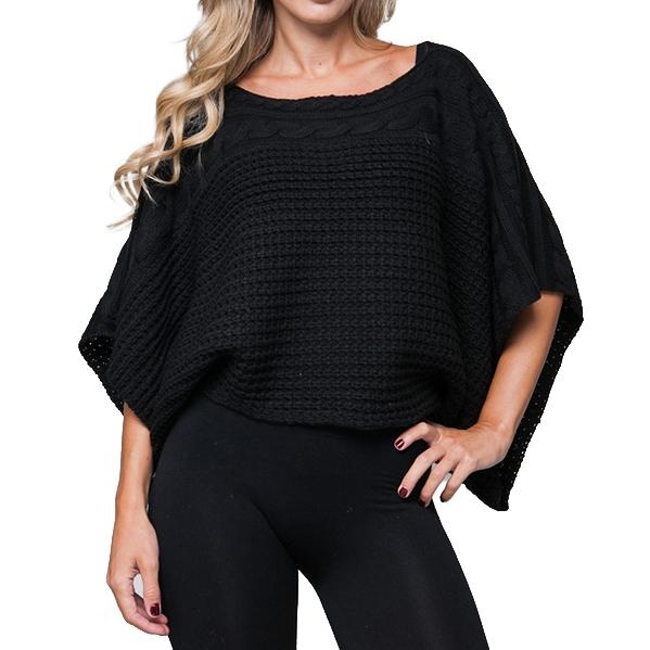 Gebreide dames trui Zwart
