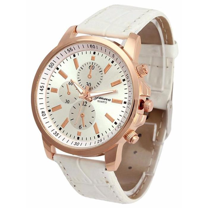 Geneva dames horloge Chrono White Rose