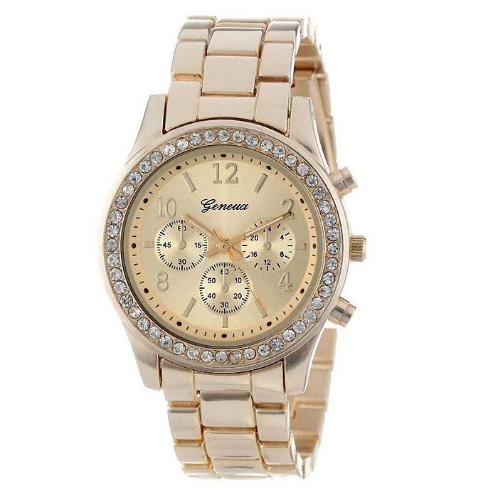 Geneva dames horloge Crystal Goud
