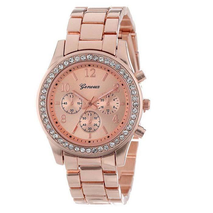 Geneva dames horloge Crystal Rose