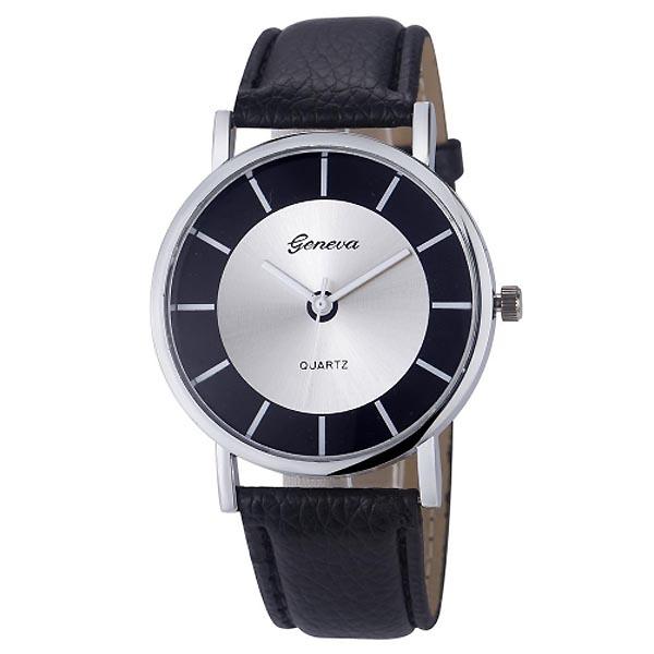 Geneva dames horloge Retro Zwart