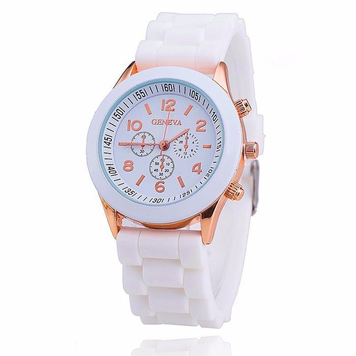 Geneva dames horloge Silicon White Gold