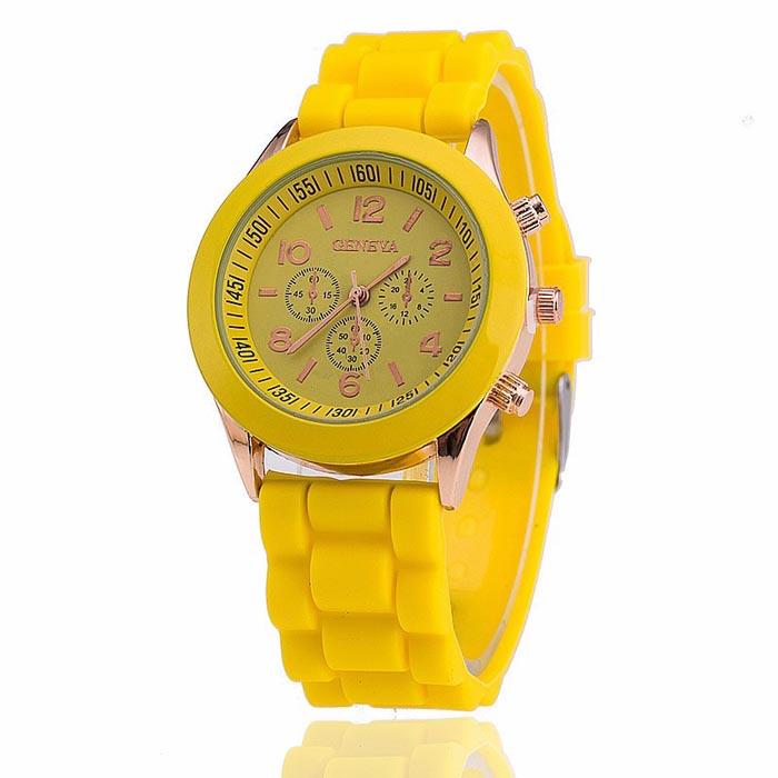 Geneva dames horloge Silicon Yellow Gold