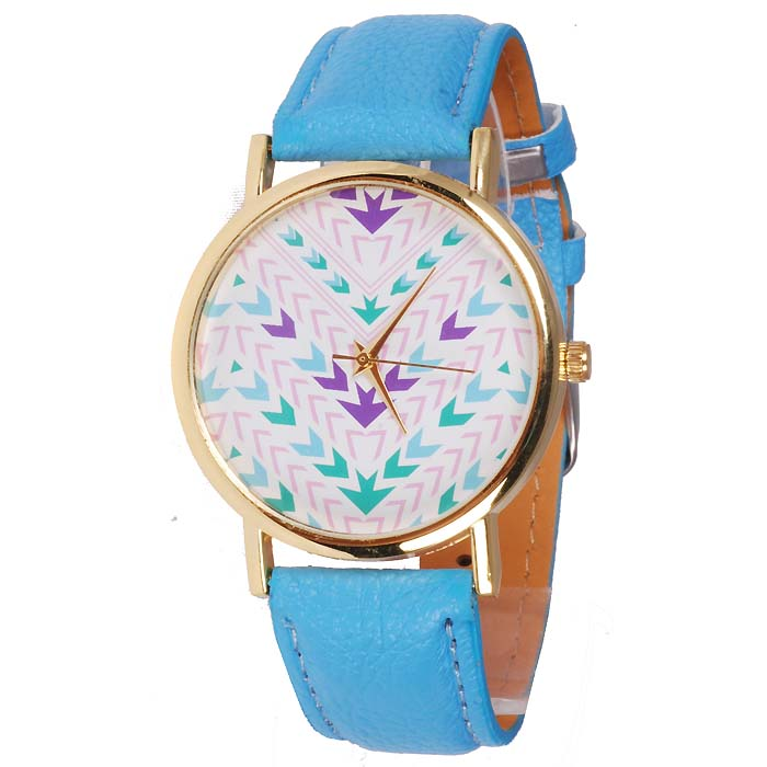 Geneva Fashion horloge Aztec Blue