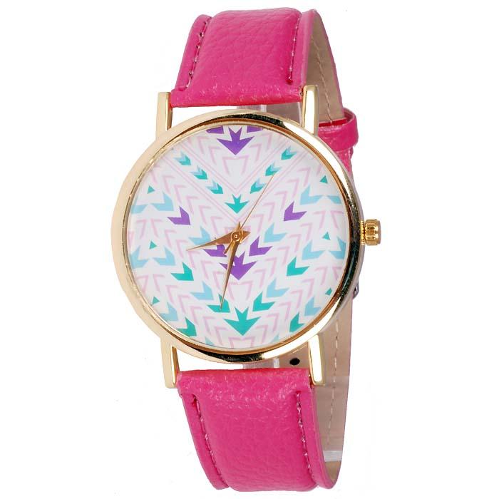 Geneva Fashion horloge Aztec Dark Pink