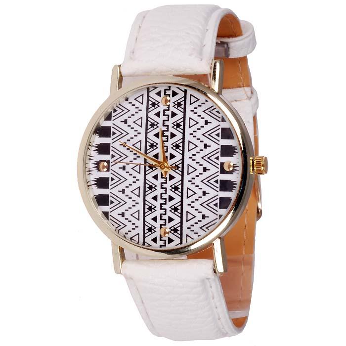 Geneva Fashion horloge Aztec Gold White