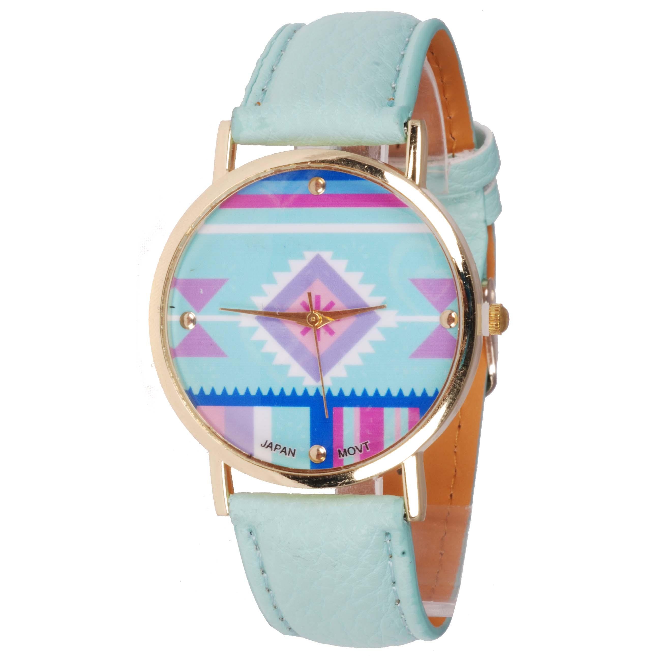 Geneva Fashion horloge Aztec Turquoise