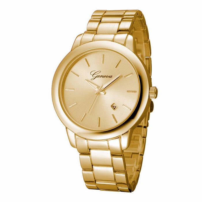 Geneva heren horloge Steel Business Gold
