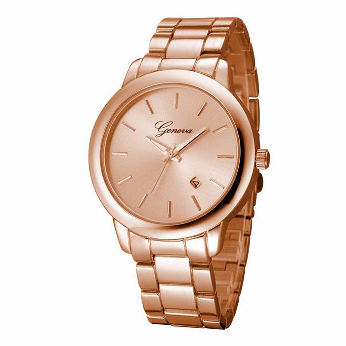 Geneva heren horloge Steel Business Rose