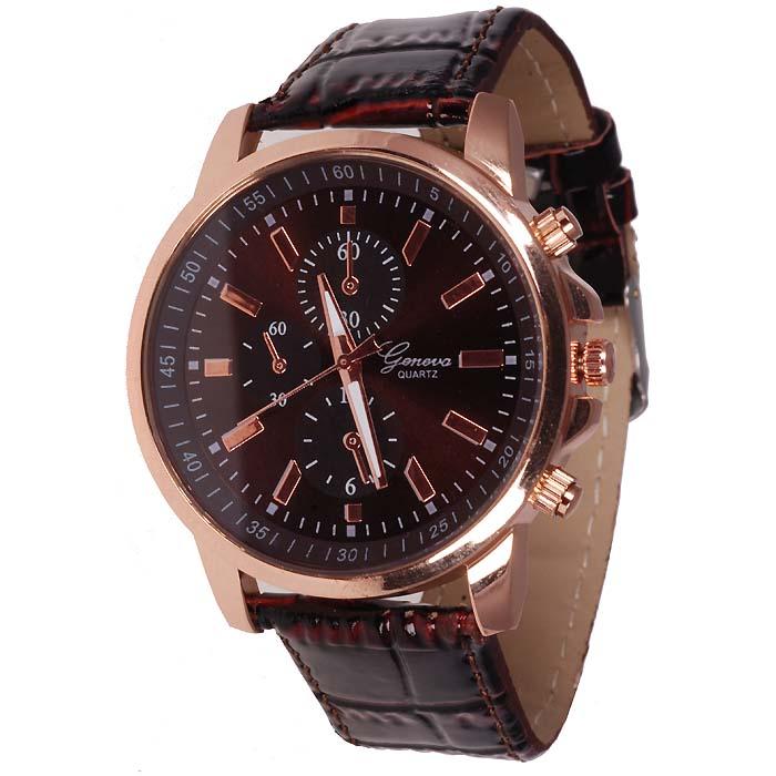 Geneva mode horloge Chrono Rose Zwart
