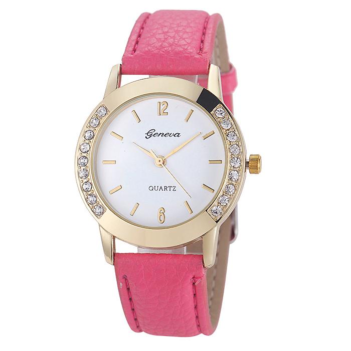 Geneva mode horloge Diamonds Gold Pink